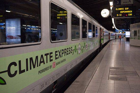 Climate Trains will run to Paris in December
