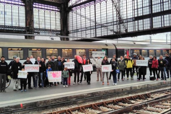 So many demonstrations in France in favor of night trains