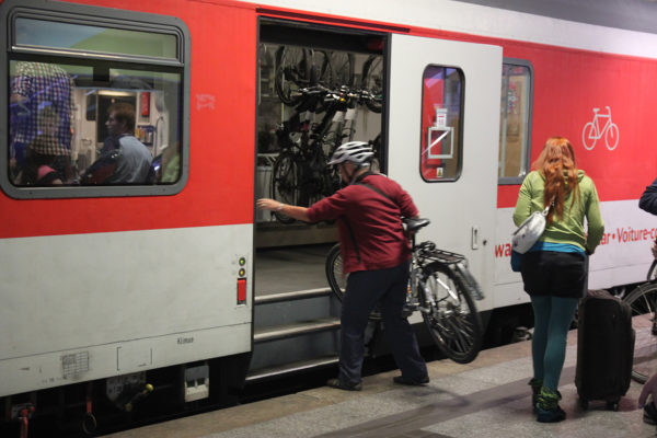Bike carriage on long-distance trains